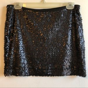 NWOT Express Black Sequin Stretch Miniskirt